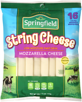 Springfield® Low-Moisture Part-Skim Mozzarella String Cheese 16 ct Bag