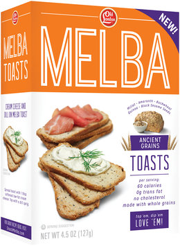 Old London Ancient Grains Melba Toast 4.5 oz. Box