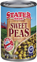 Stater Bros.® No Salt Added Sweet Peas 15 oz Can