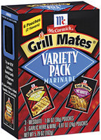 McCormick Grill Mates Variety Pack W/3-Mesquite & 3-Garlic Herb & Wine Marinade 6 Ct Box