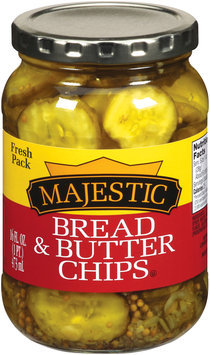 Majestic Bread & Butter Pickle Chips 16 fl. oz.