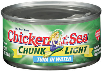 CHICKEN OF THE SEA Chunk Light In Water Tuna