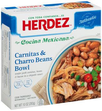Herdez™ Cocina Mexicana™ Carnitas & Charro Beans Bowl, 10 oz. Box