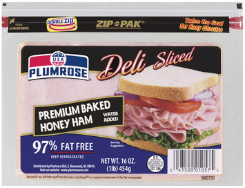 Plumrose® Premium Sliced Honey Baked97% Fat Free Ham 16 oz. Pack