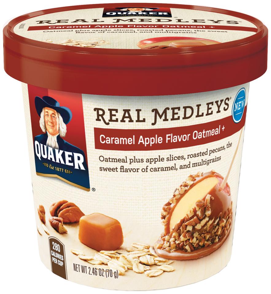 Quaker® Real Medleys Caramel Apple Flavor Instant Oatmeal