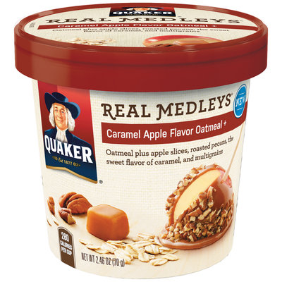 Quaker® Real Medleys Caramel Apple Flavor Instant Oatmeal