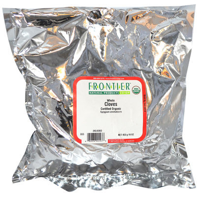 Frontier Cloves Whole Certified Organic, 16 oz Bag