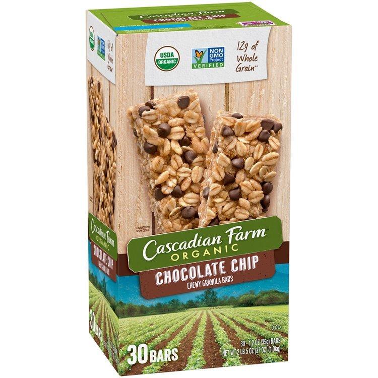 Cascadian Farm™ Organic Chocolate Chip Chewy Granola Bars 30 ct Box