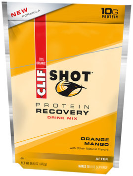 CLIF Shot® Protein Recovery Orange Mango Drink Mix 16 oz. Pouch