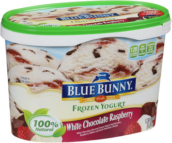 Blue Bunny Frozen Yogurt White Chocolate Raspberry