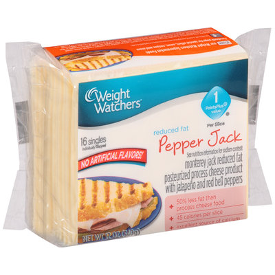 Weight Watchers® Reduced Fat Pepper Jack Cheese