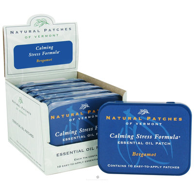 Frontier Essential Oil Patches Bergamot, Stress Relief 10 count tins