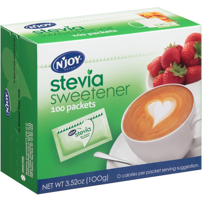 N'Joy® Brand Stevia Sweetener 100 Packets Box