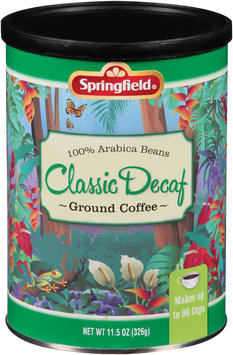 Springfield® Classic Decaf Ground Coffee 11.5 oz. Canister