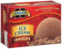 Hagan Chocolate Ice Cream 1.75 Qt Box