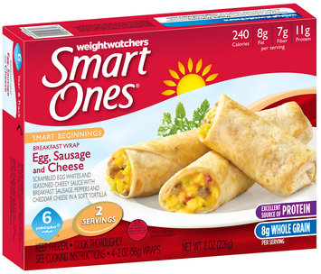 Weight Watchers Smart Ones® Smart Beginnings Egg, Sausage and Cheese Breakfast Wrap 4 ct Box