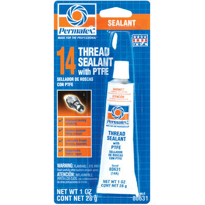 Permatex® 80631 W/Ptfe Carded Thread Sealant 1 Oz Tube