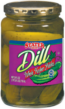 Stater Bros. Whole Kosher Dill Pickles 24 Fl Oz Jar