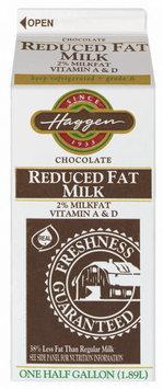 Haggen Chocolate Vitamin A & D 2% Milk Fat Reduced Fat Milk