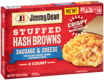 Jimmy Dean® Sausage & Cheese Stuffed Hash Browns 15 oz. Box