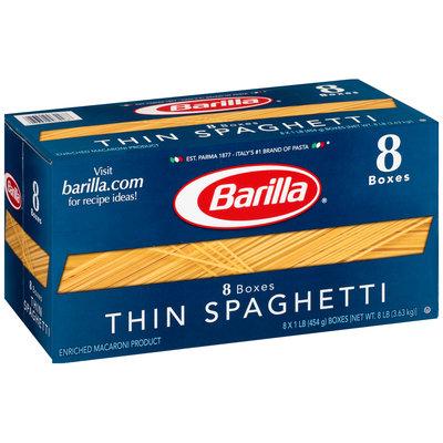 Barilla® Thin Spaghetti Pasta 8-16 oz. Boxes