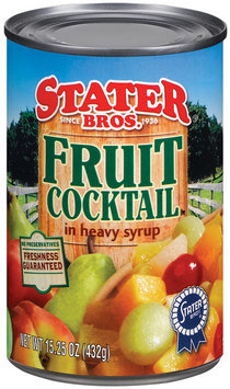Stater Bros. In Heavy Syrup Fruit Cocktail 15.25 Oz Can