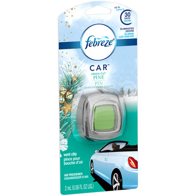 Febreze CAR Vent Clip Fresh Cut Pine Air Freshener (1 Count, 0.06 oz)