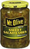 Mt. Olive Sweet Salad Cubes Pickles 24 Oz Jar