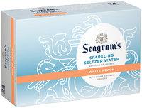 Seagram's White Peach Sparkling Seltzer Water 24 pk, 12 oz Cans