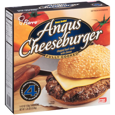Pierre™ Flame Broiled Angus Cheeseburger 4-4.8 oz. Box