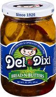 Del-Dixi® Jalapeno Bread-N-Butters 16 fl. oz. Jar