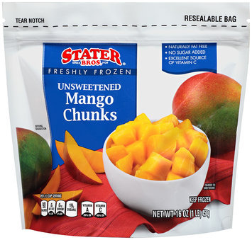 Stater Bros.® Freshly Frozen Unsweetened Mango Chunks 16 oz Bag