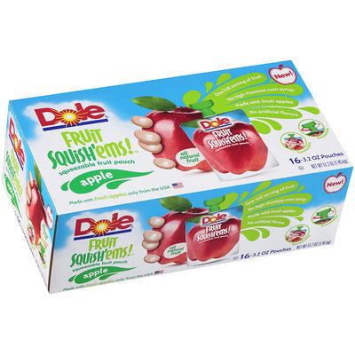 Dole® Fruit Squish'ems™ Apple Squeezable Fruit Pouch 16-3.2 oz. Pouches