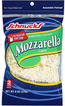 Schnucks® Shredded Natural Mozzarella Cheese 8 oz. Bag
