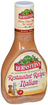 Bernstein's Restaurant Recipe Italian Dressing 14 Oz Plastic Bottle