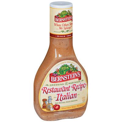 Bernstein's Restaurant Recipe Italian Dressing 14 Oz Plastic Bottle