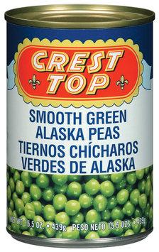 Crest Top Smooth Green Alaska Peas 15.5 Oz Can