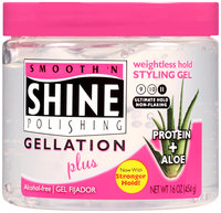 Smooth 'n Shine Polishing Gellation Plus Weightless Hold Styling Gel 16 oz. Jar