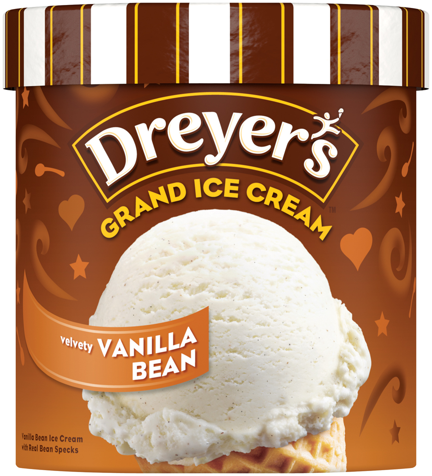 DREYER'S/EDY'S  Grand Vanilla Bean Ice Cream 1.5 qt. Carton