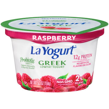 La Yogurt® Probiotic Raspberry Greek Lowfat Yogurt 5.3 oz. Cup