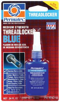 Permatex® Medium Strength Blue Threadlocker .34 Fl Oz Peg