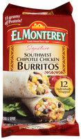 El Monterey® Signature Southwest Chipotle Chicken Burritos 12 ct Bag