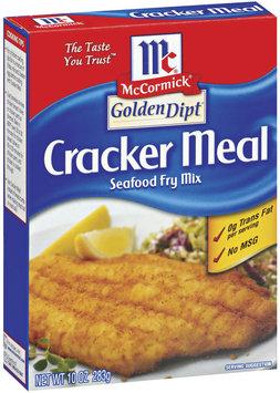 Golden Dipt Cracker Meal Seafood Fry Mix 10 Oz Box