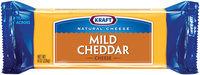 Kraft Natural Cheese Cheddar Mild Chunk Cheese 8 Oz Brick
