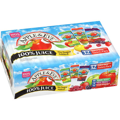 Apple & Eve® Apple/Very Berry/Fruit Punch 100% Juice Variety Pack 32-6.75 fl. oz. Aseptic Packs