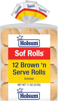 Holsum® Sof Rolls® Brown 'n Serve Rolls 12 ct Bag