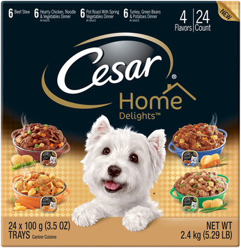 Cesar® Home Delights™ Canine Cuisine Variety Pack 24-3.5 oz. Trays
