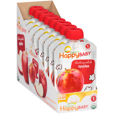 Happy Baby® Starting Solids Apples Organics Baby Food 8-3.5 oz. Pouches