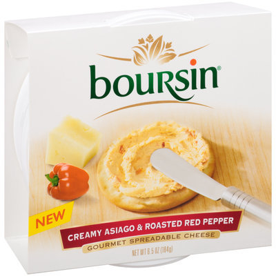 Boursin® Creamy Asiago & Roasted Red Pepper Gourmet Spreadable Cheese 6.5 oz. Tub