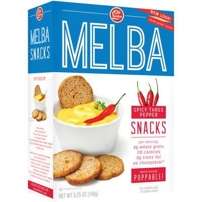 Old London® Melba Snacks Spicy 3 Pepper 5.25 oz. Box